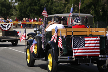 Classic car in parade