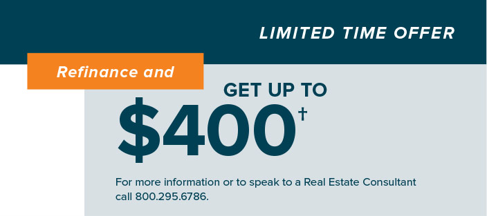 Refinance and Get Up to $400