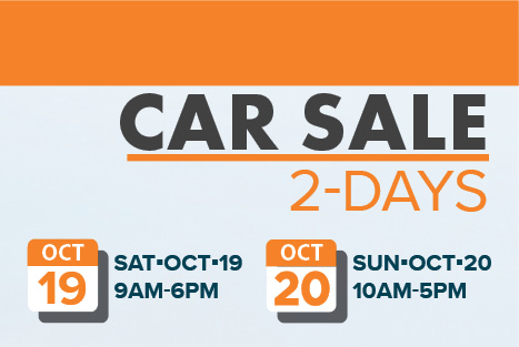 Oct 2019 Car Sale
